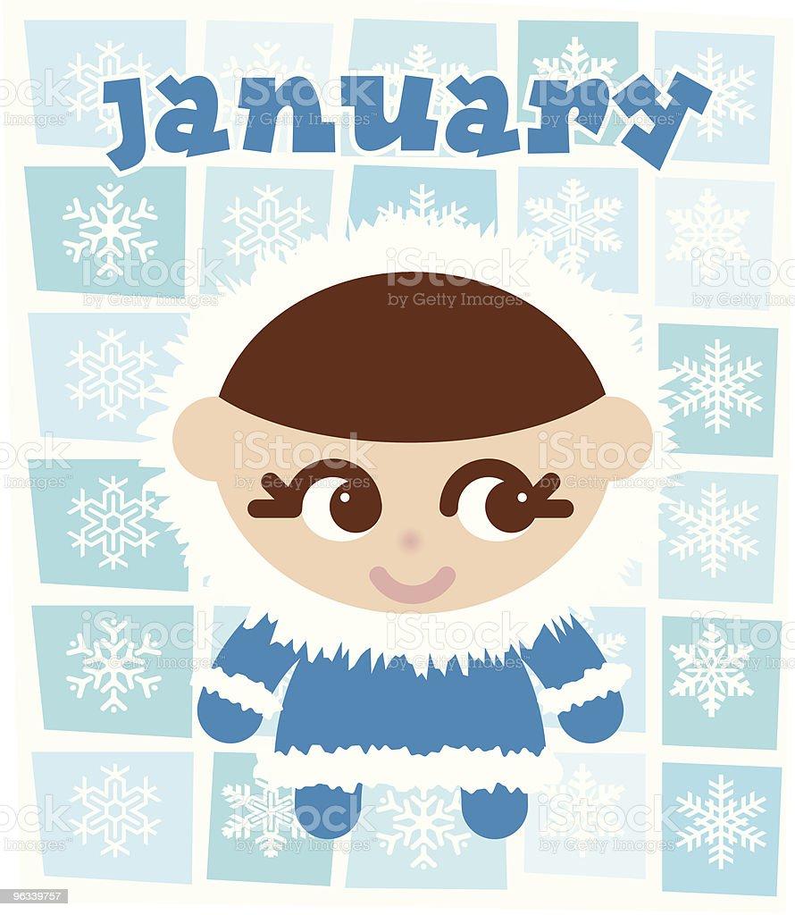 Miss January - Vector royalty-free stock vector art