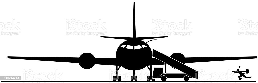 Miss the plane royalty-free stock vector art