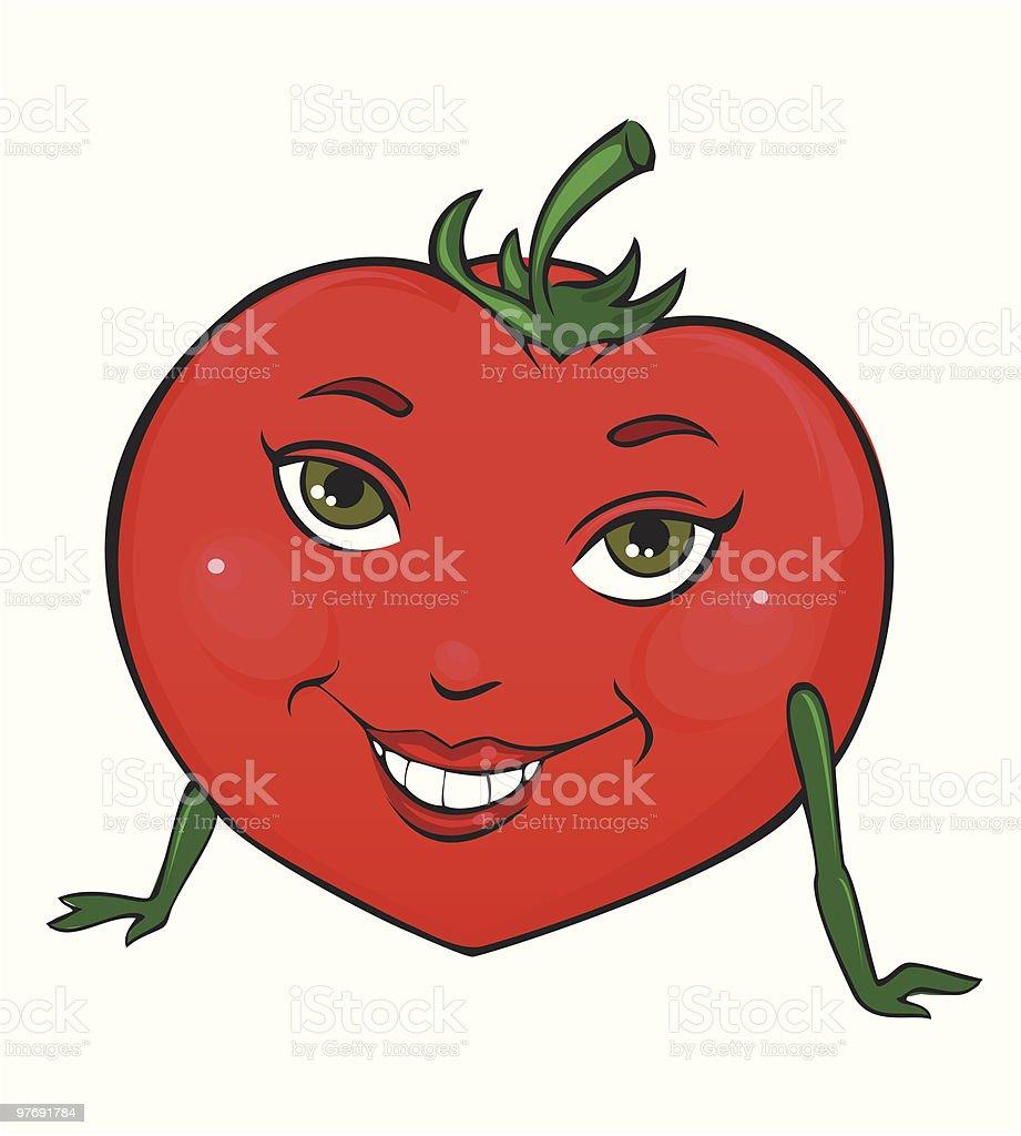 Miss Tomato vector art illustration