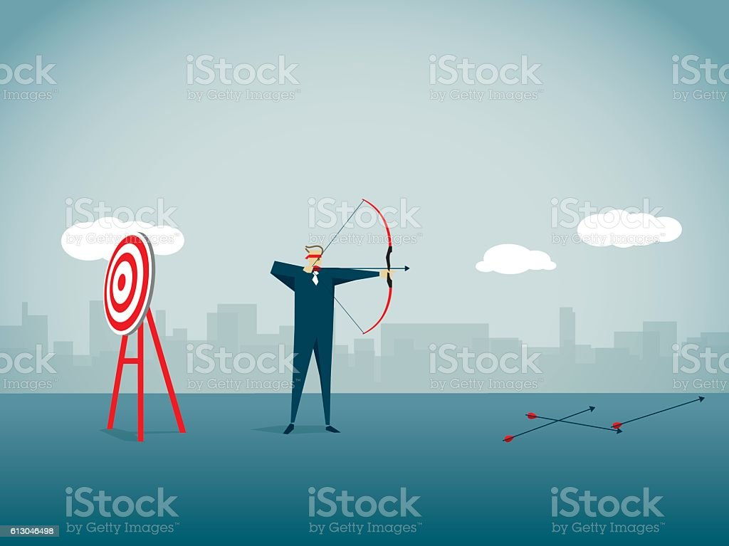 Missed Its Target vector art illustration