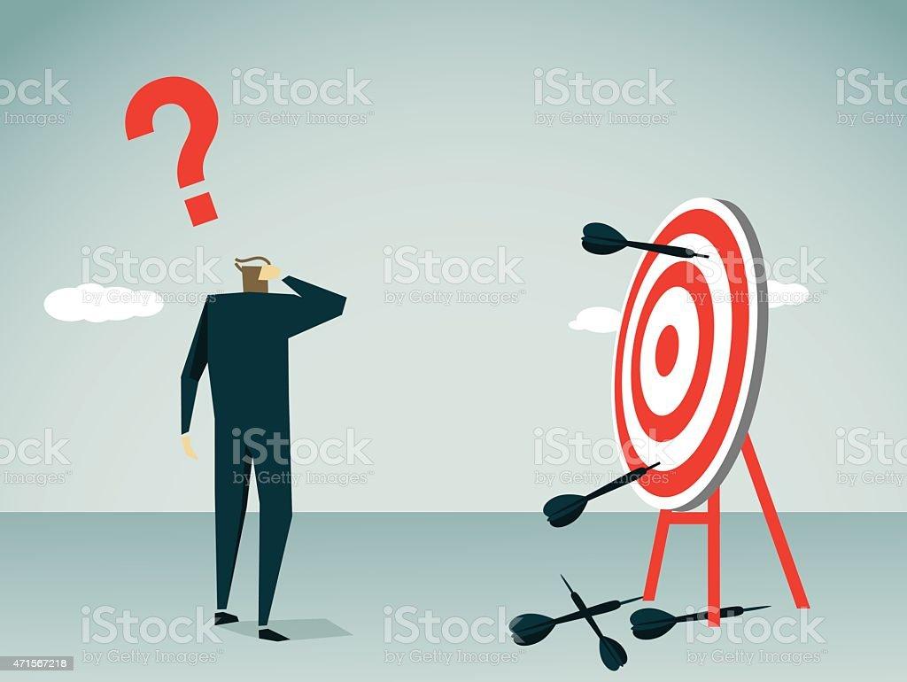Missed Its Target-Illustration vector art illustration