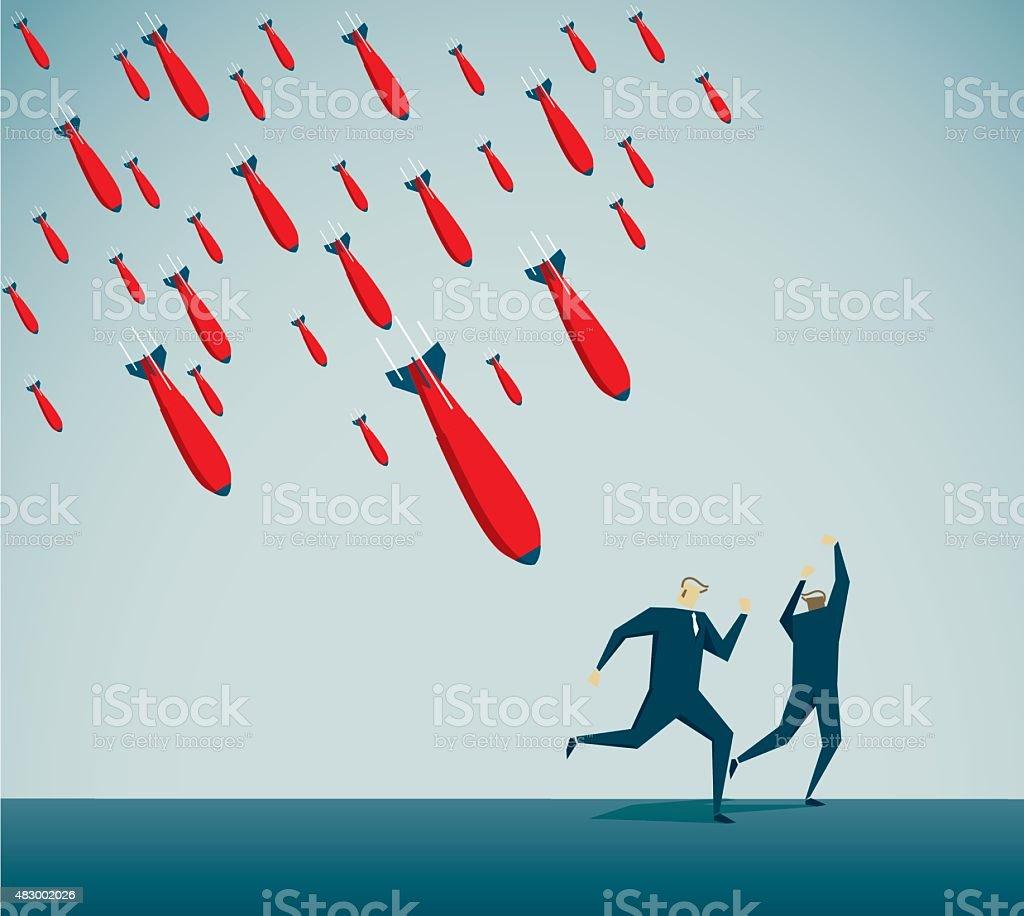 Missile vector art illustration