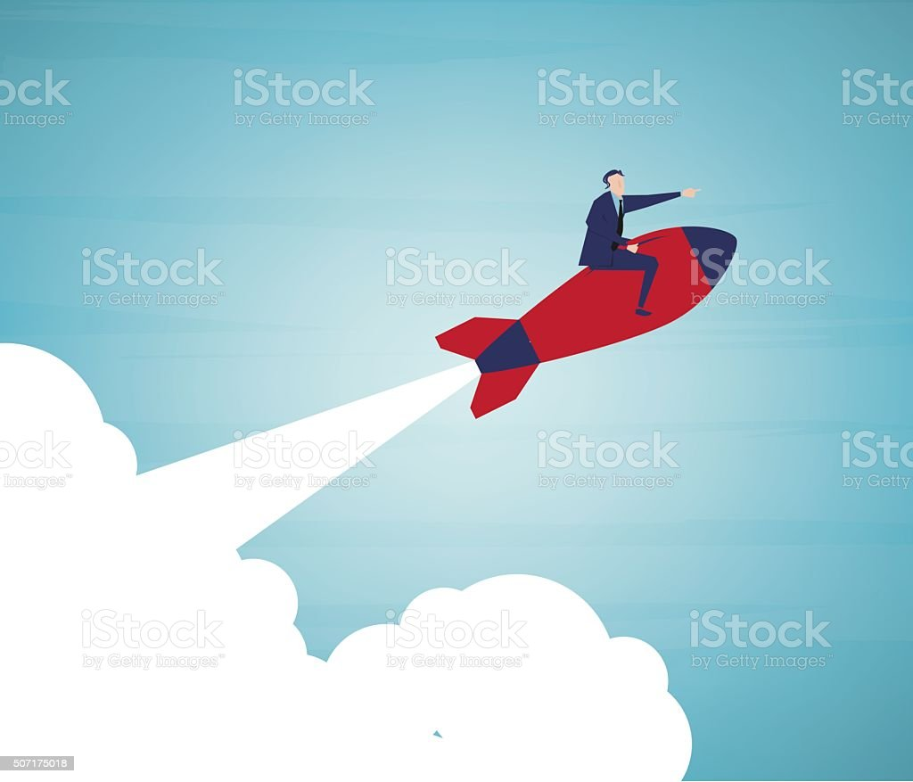 Missile vector art illustration