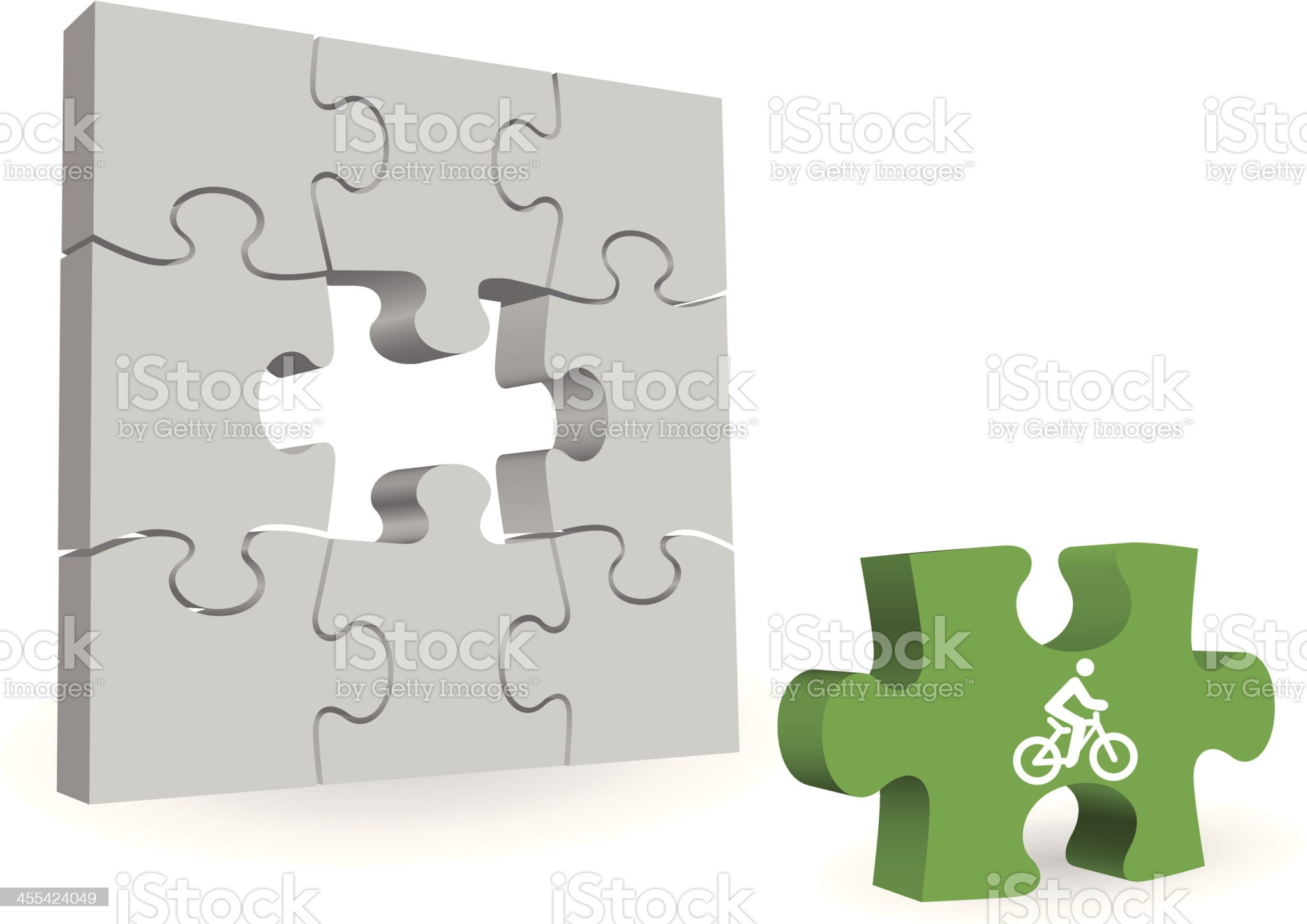missing biking puzzle piece royalty-free stock vector art