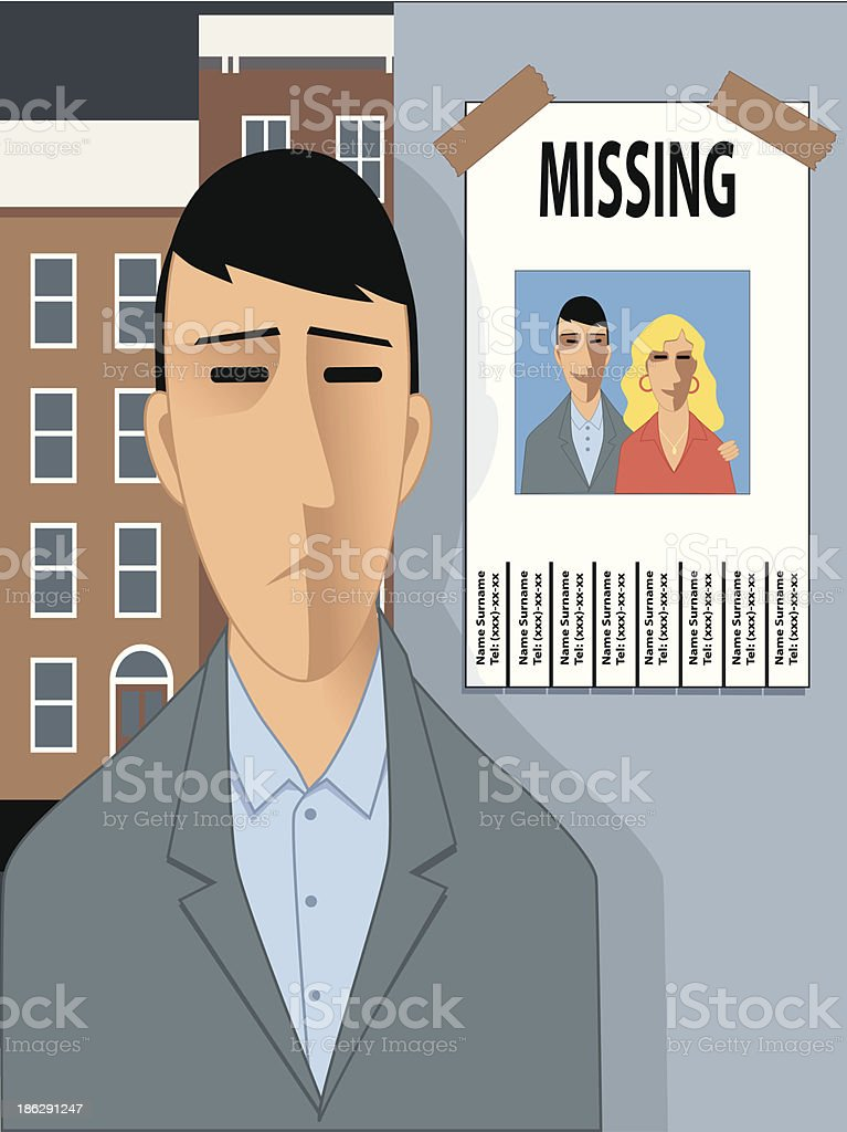 Missing happyness royalty-free stock vector art