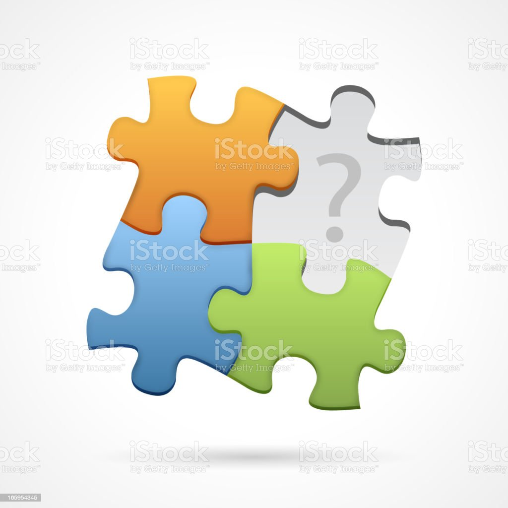 Missing jigsaw piece royalty-free stock vector art