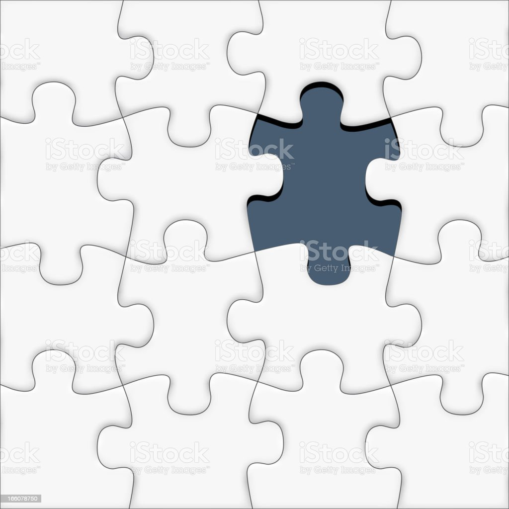 Missing piece of the puzzle royalty-free stock vector art