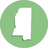Mississippi Round Map Icon