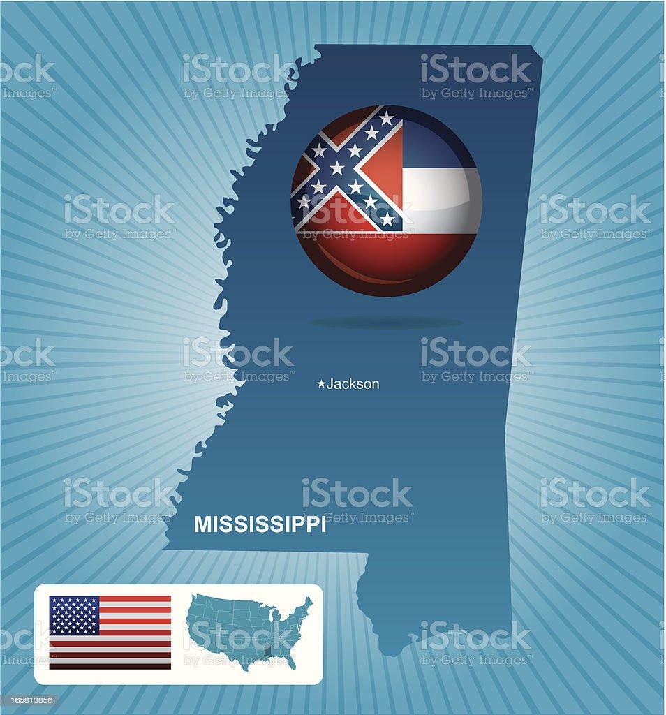 Mississippi state vector art illustration