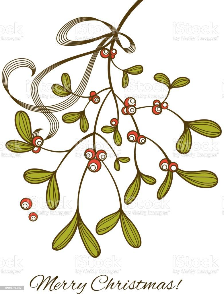 Mistletoe royalty-free stock vector art