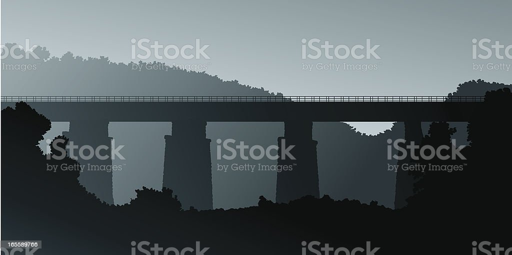 Misty Bridge royalty-free stock vector art
