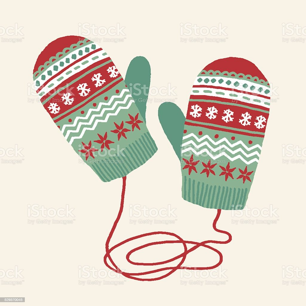 Mittens vector art illustration