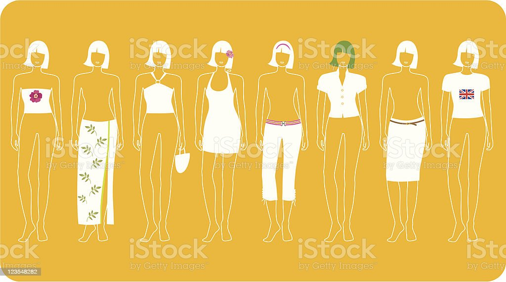 Mix & Match (Part Two) royalty-free stock vector art