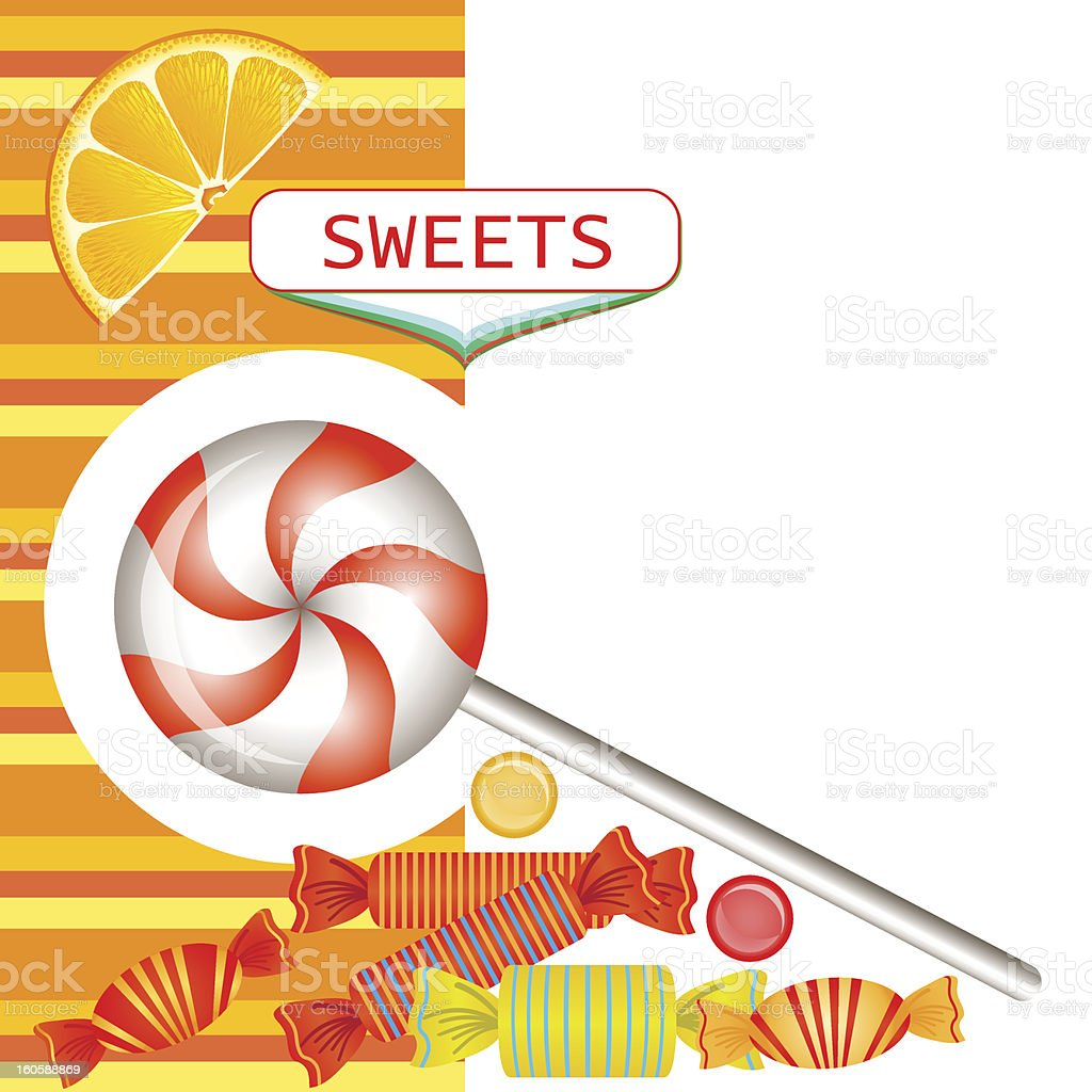 Mixed candies royalty-free stock vector art