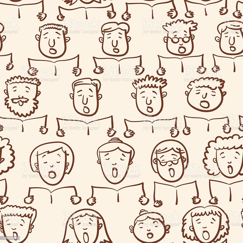 Mixed Choir Pattern. royalty-free stock vector art