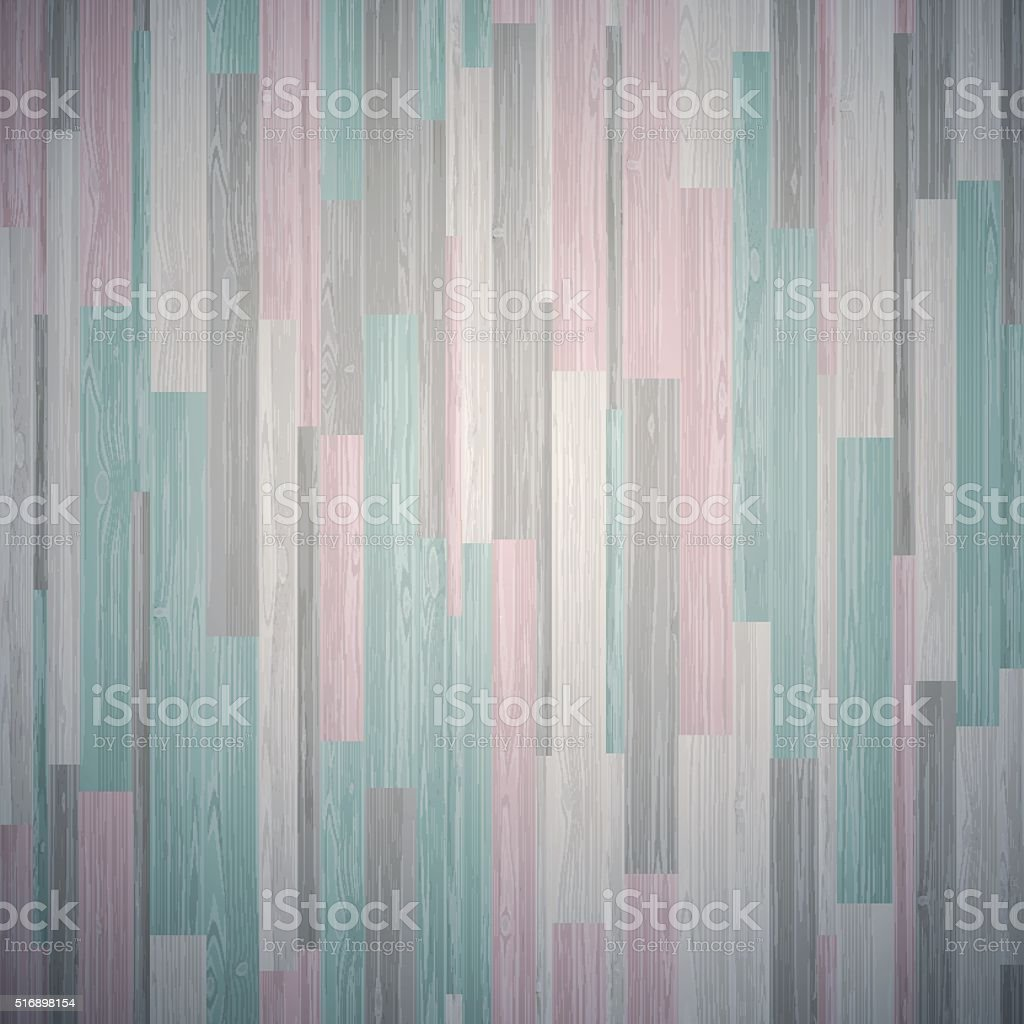 Mixed Parquet Wooden Stripe Mosaic Tile vector art illustration