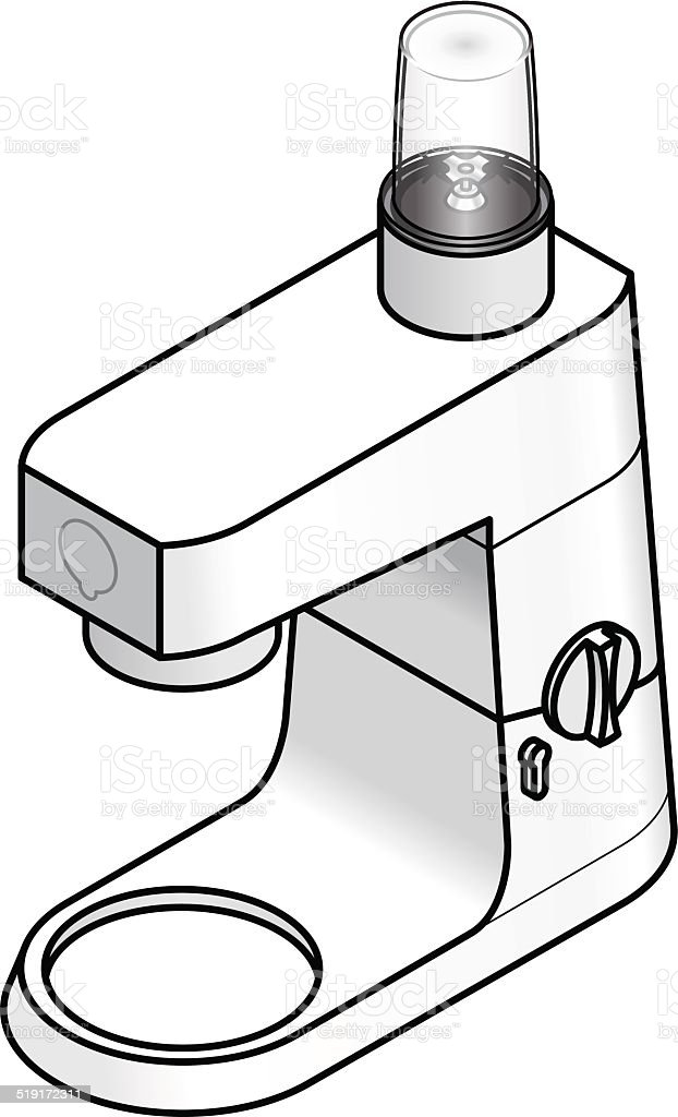 Mixer / Food Processor vector art illustration