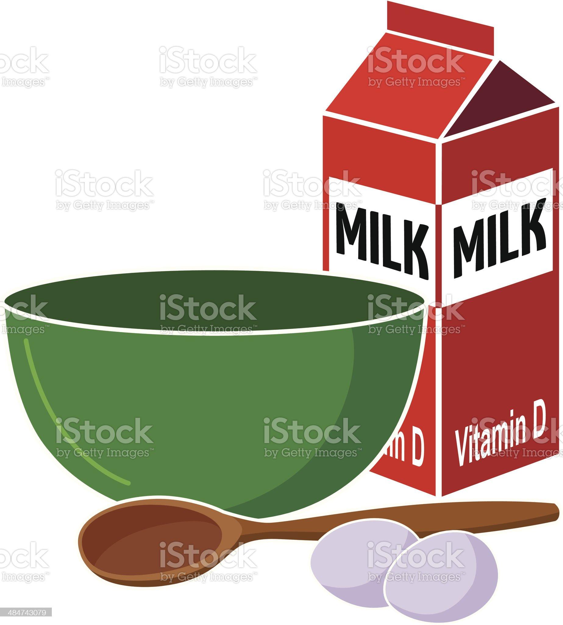 mixing bowl royalty-free stock vector art