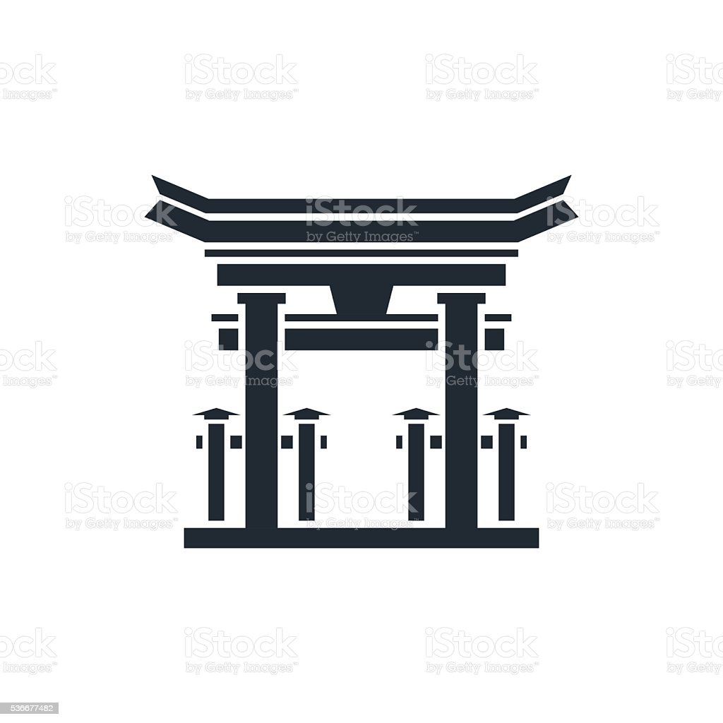 Miyajima vector art illustration
