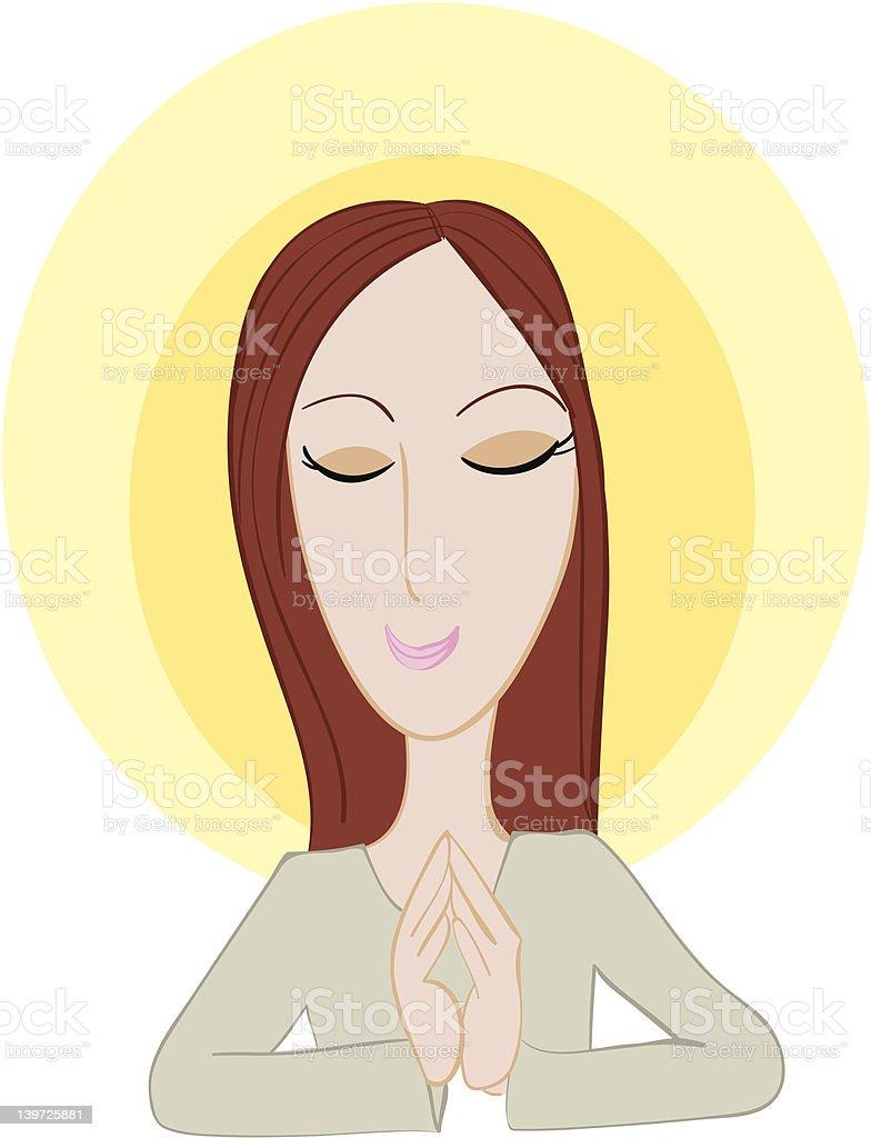 mmm...meditating vector art illustration