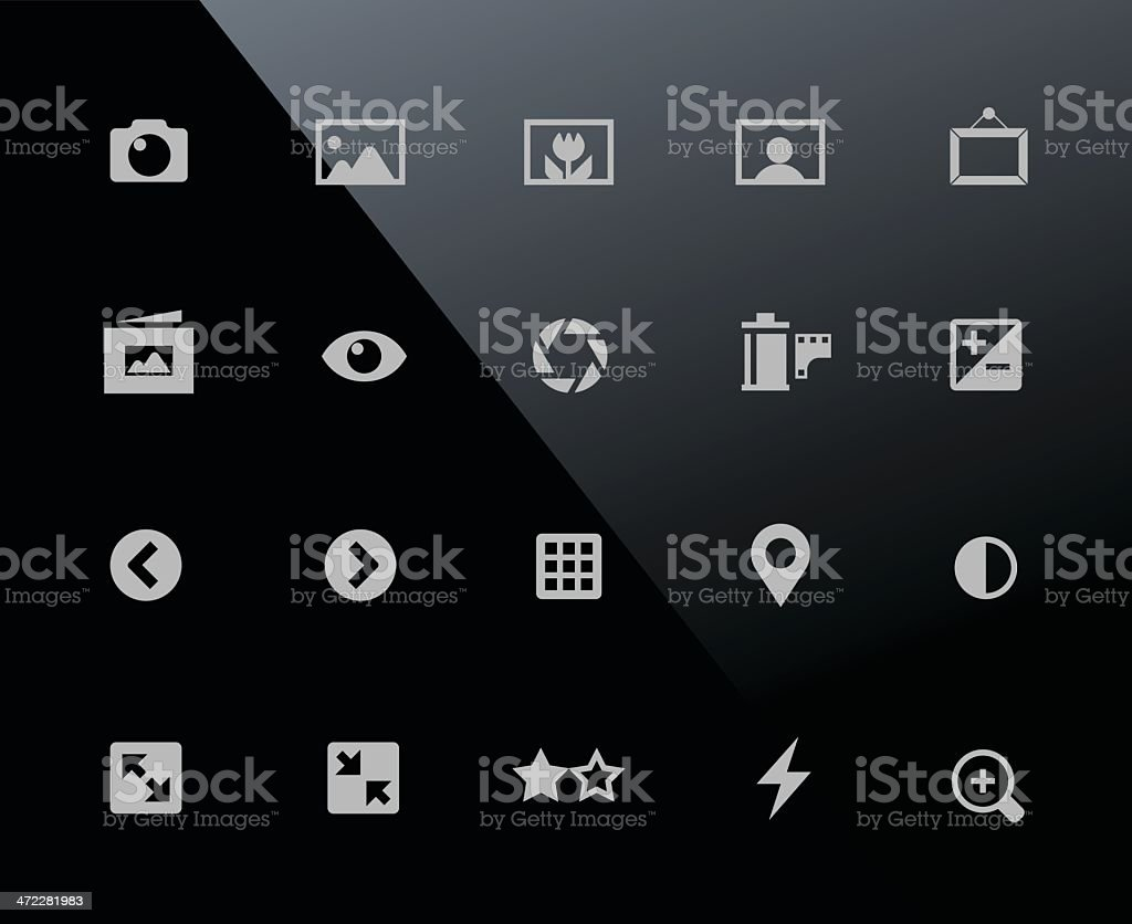 Mobi Icons | Photography royalty-free stock vector art