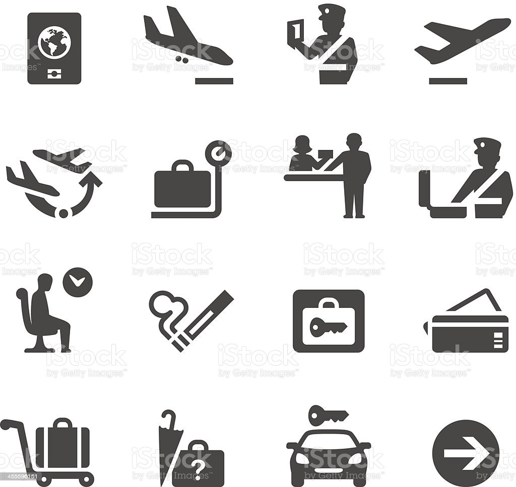 Mobico icons — Airport vector art illustration