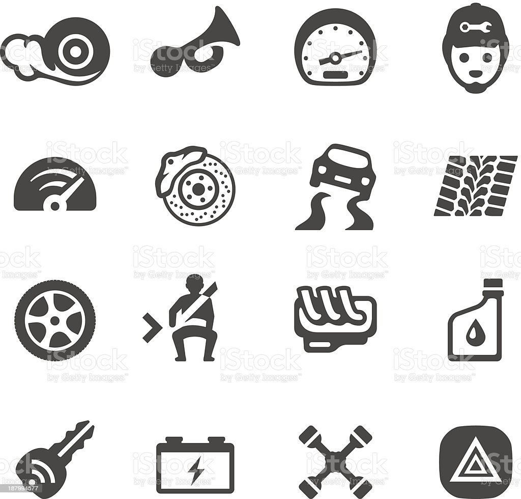 Mobico icons - Auto parts vector art illustration