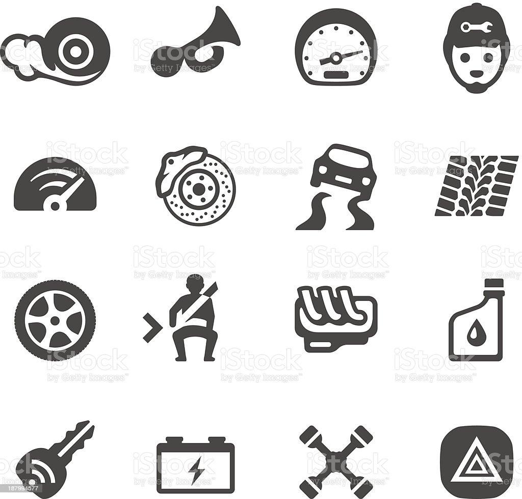 Mobico icons - Auto parts vector art illustration