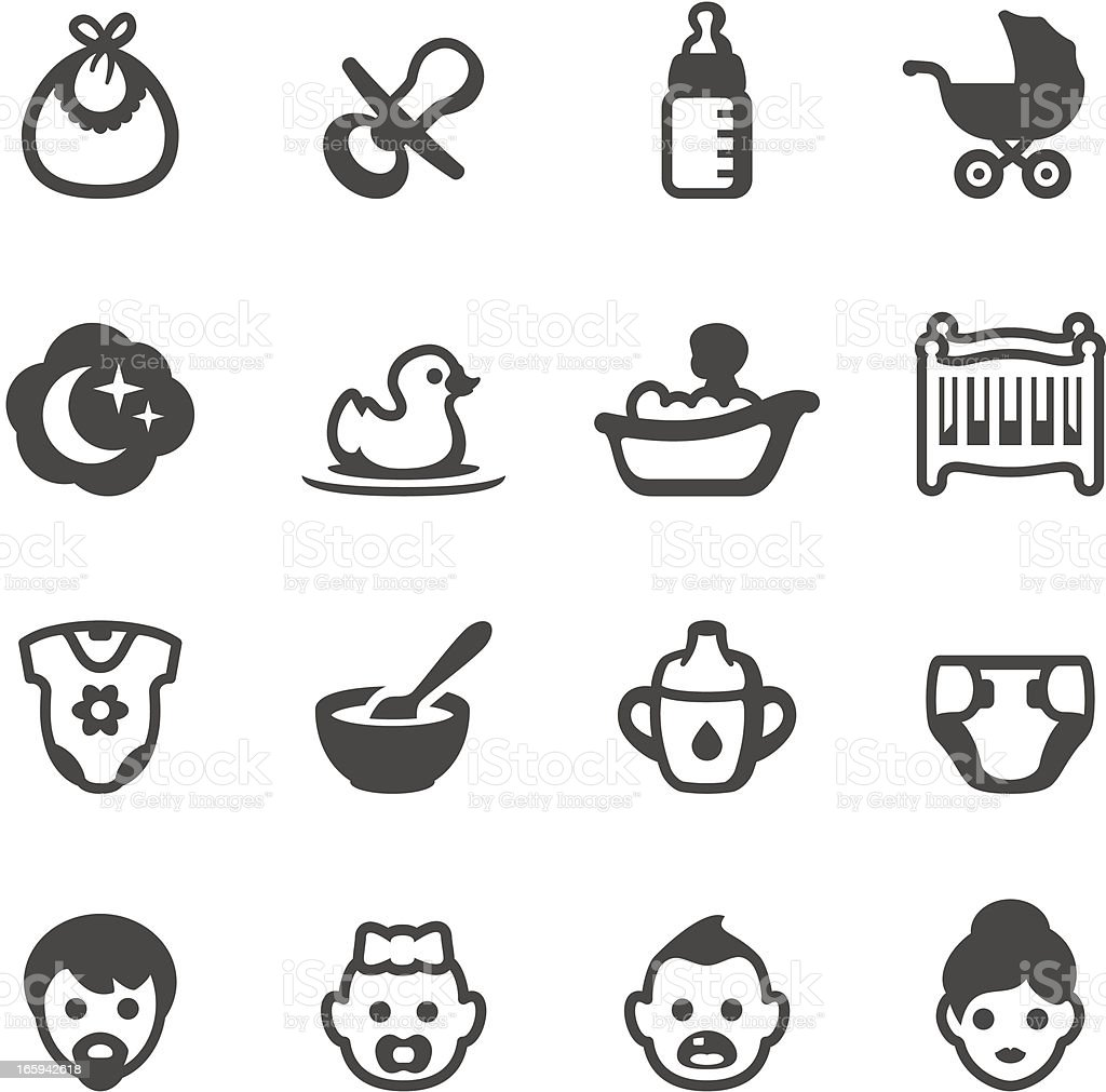 Mobico icons - Baby vector art illustration