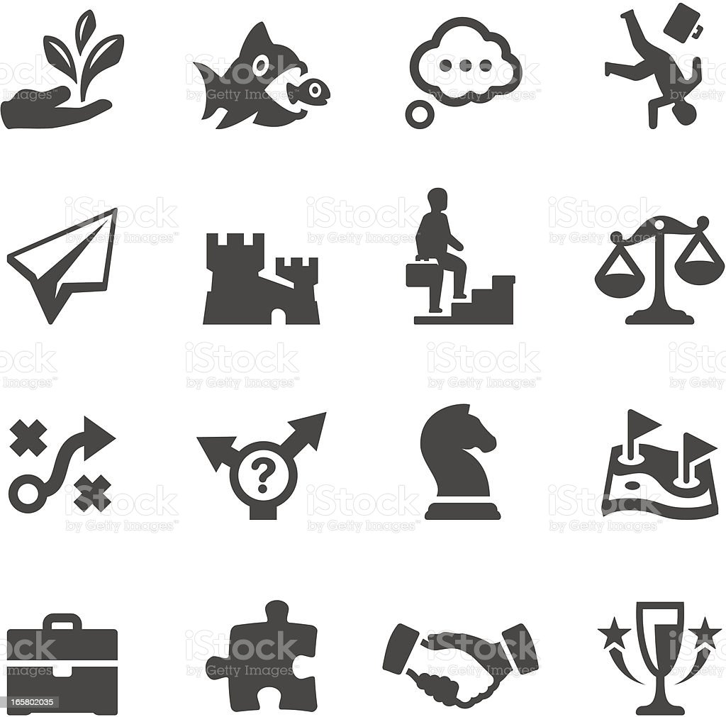 Mobico icons - Business Strategy vector art illustration