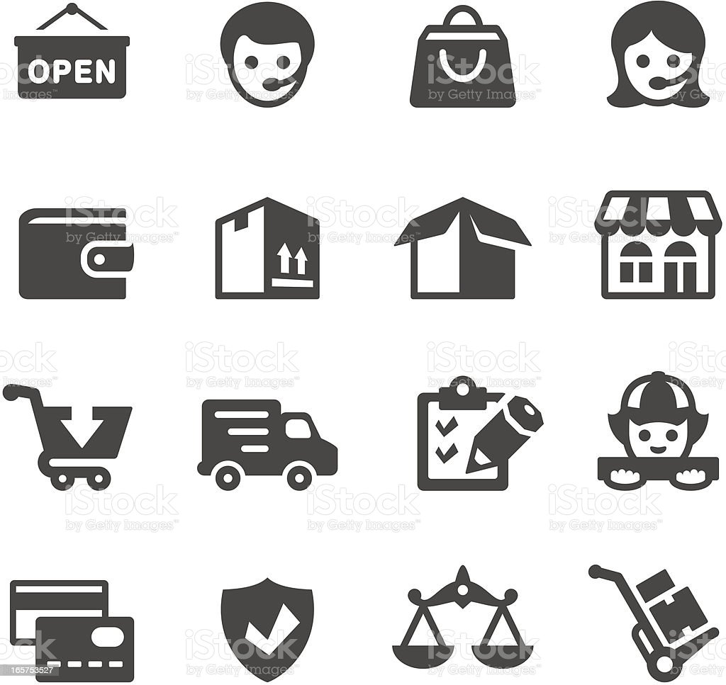 Mobico icons — Buying vector art illustration