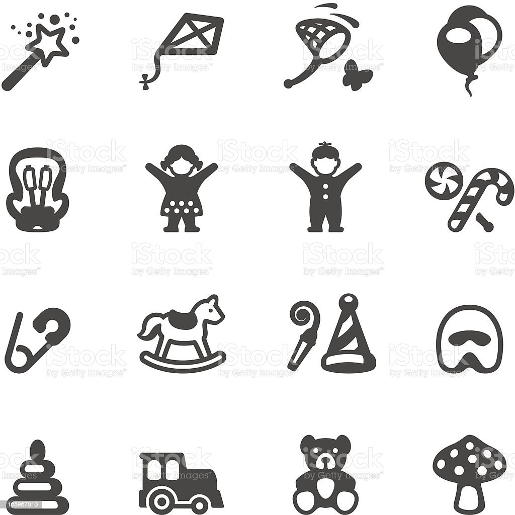 Mobico icons - Children and Childhood royalty-free stock vector art