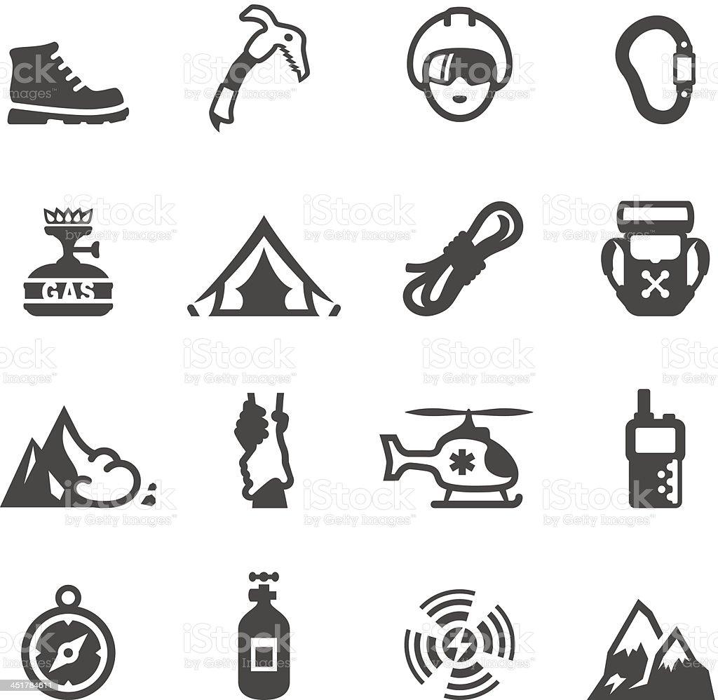Mobico icons - Climbing royalty-free stock vector art