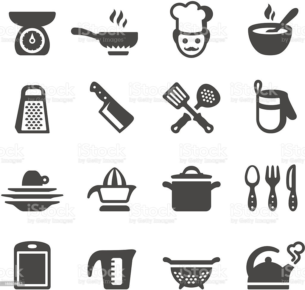 Mobico icons - Cooking vector art illustration
