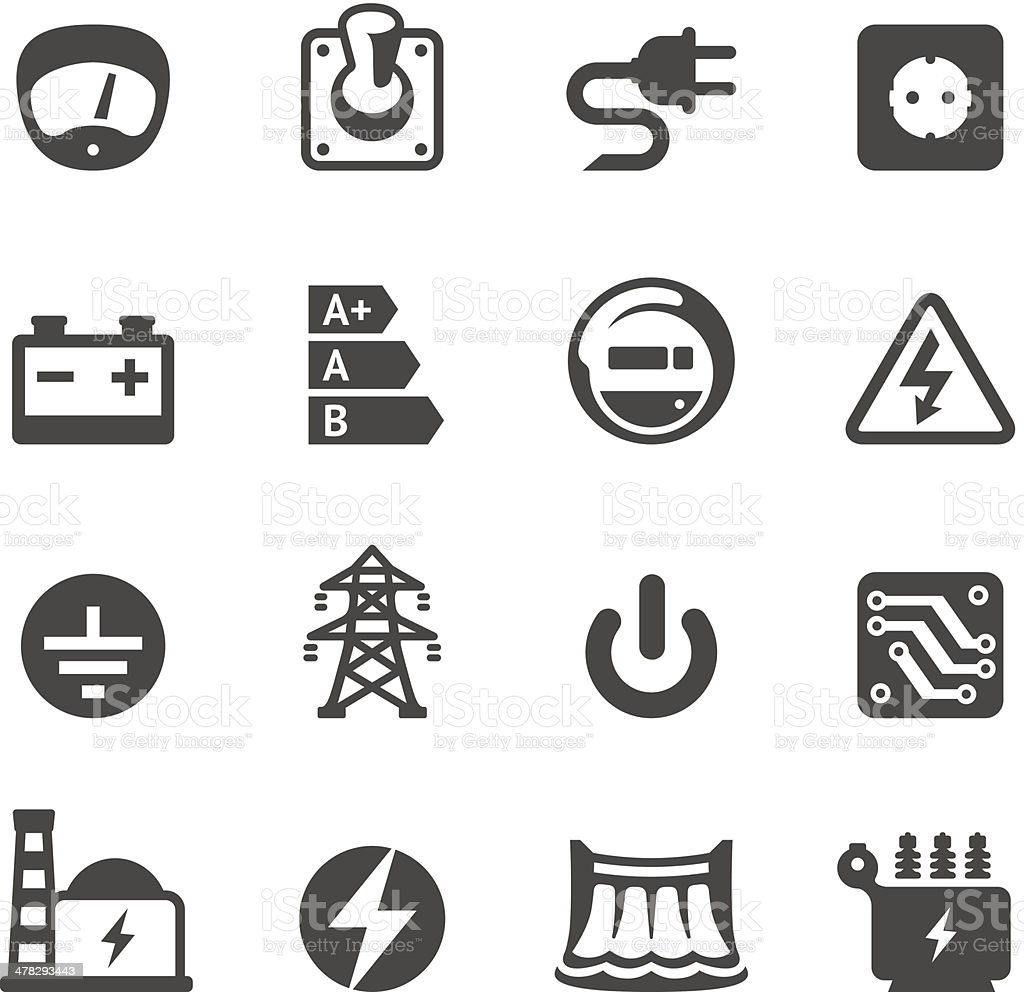 Mobico icons - Electricity vector art illustration
