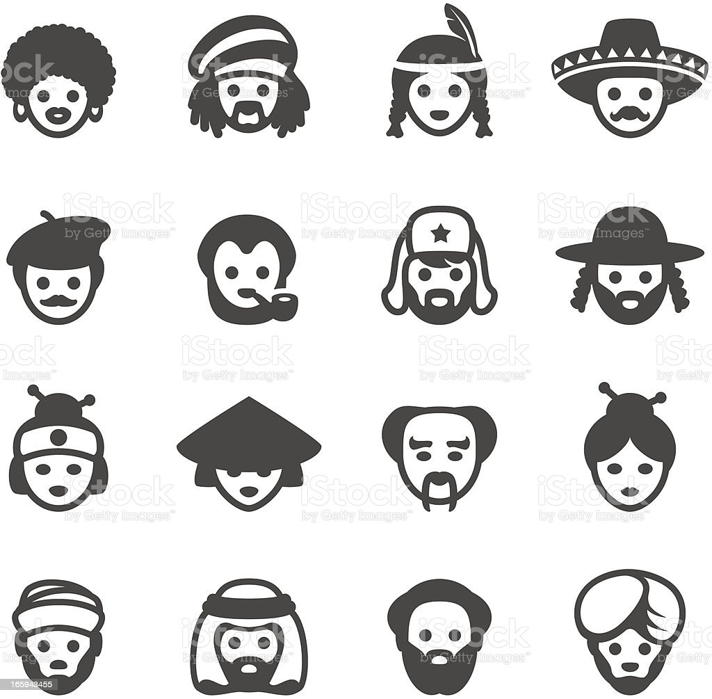 Mobico icons - Ethnicity royalty-free stock vector art