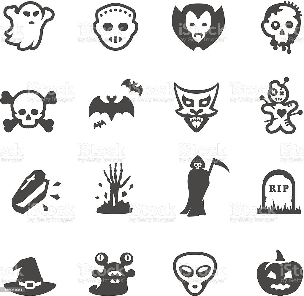 Mobico icons - Fear and Horror vector art illustration