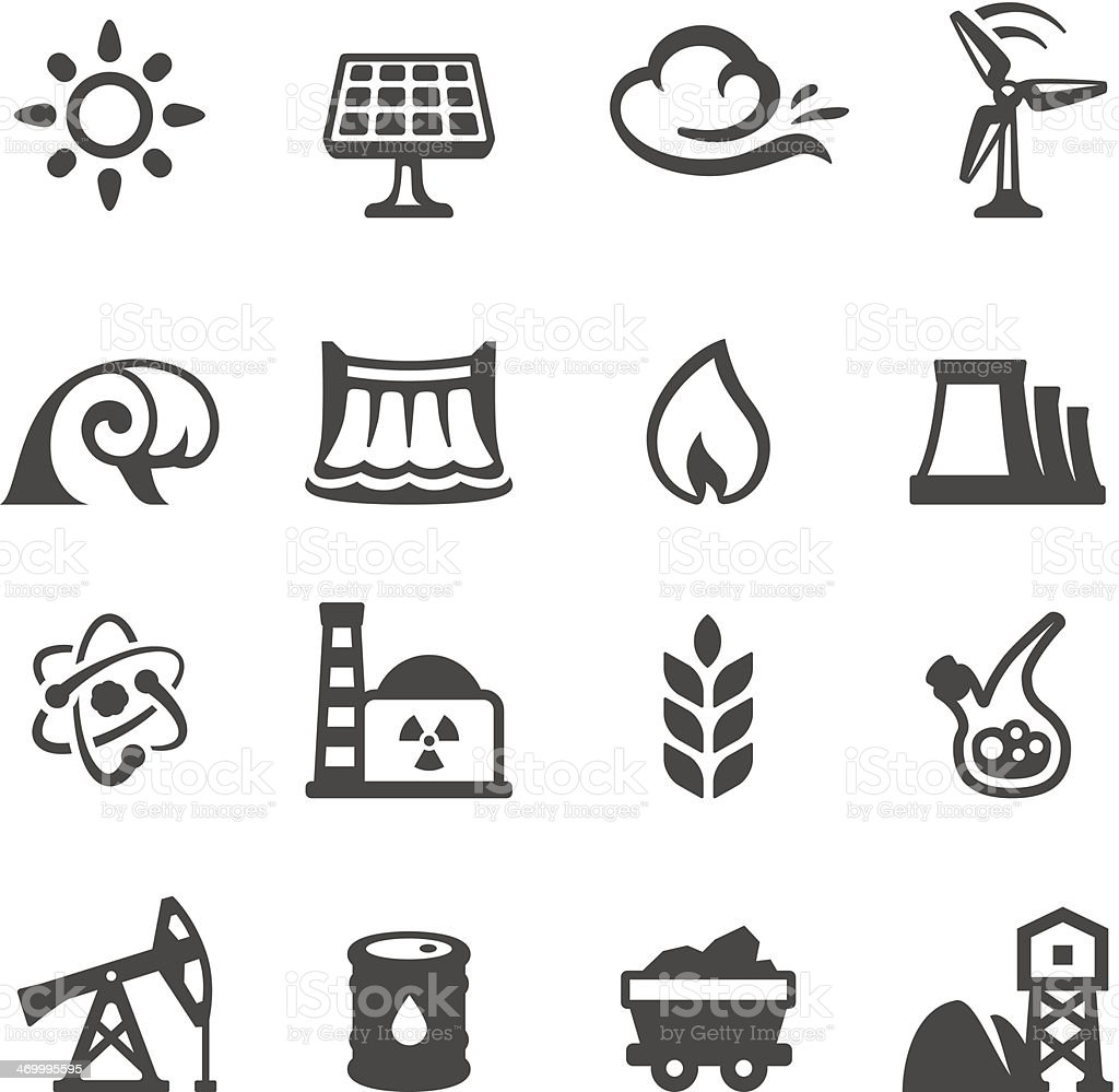 Mobico icons - Fuel and Power Generation vector art illustration