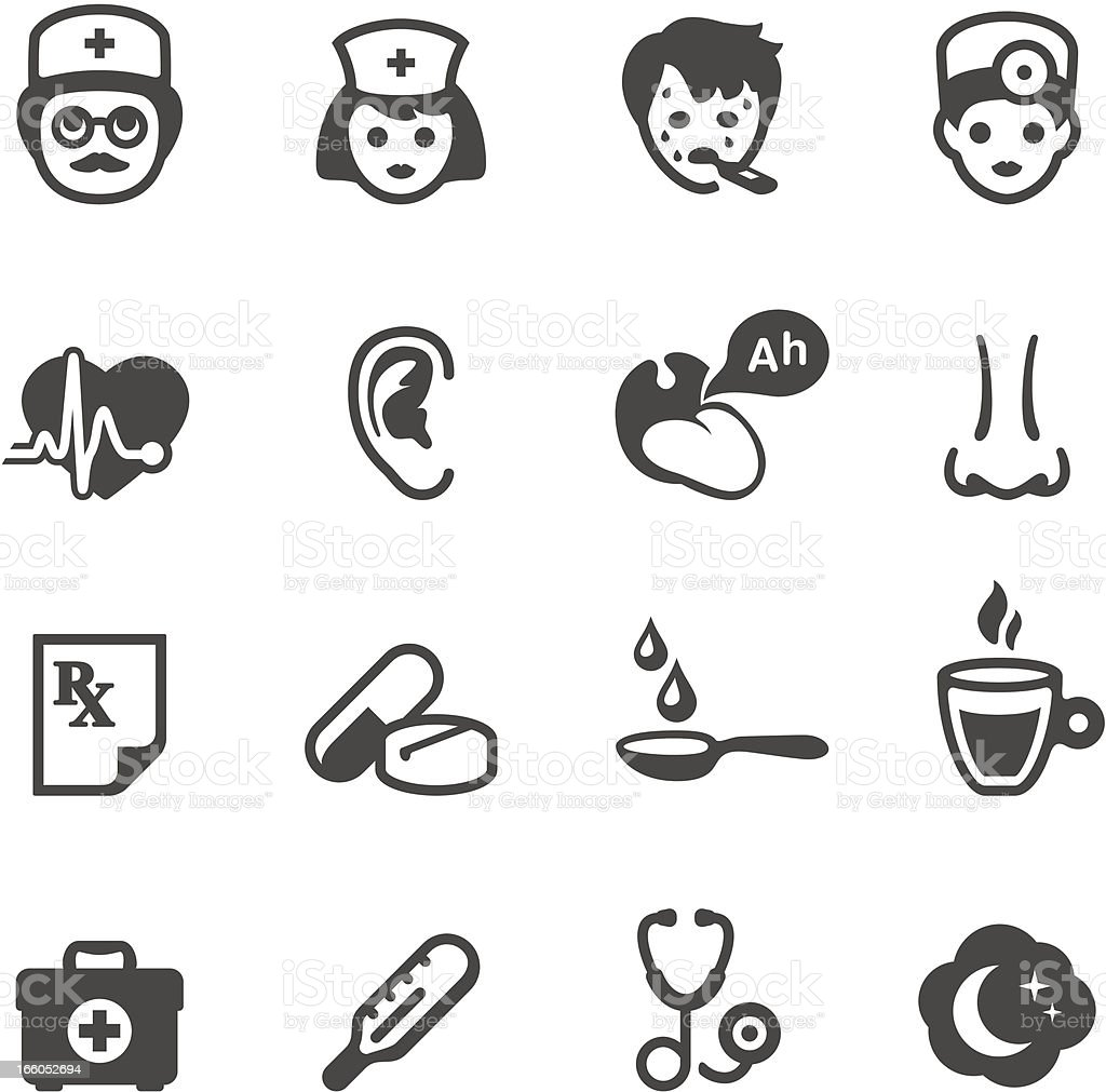 Mobico icons - General treatment vector art illustration