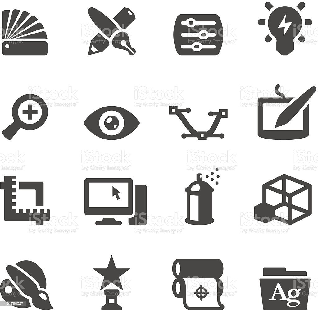 Mobico icons — Graphic Design vector art illustration