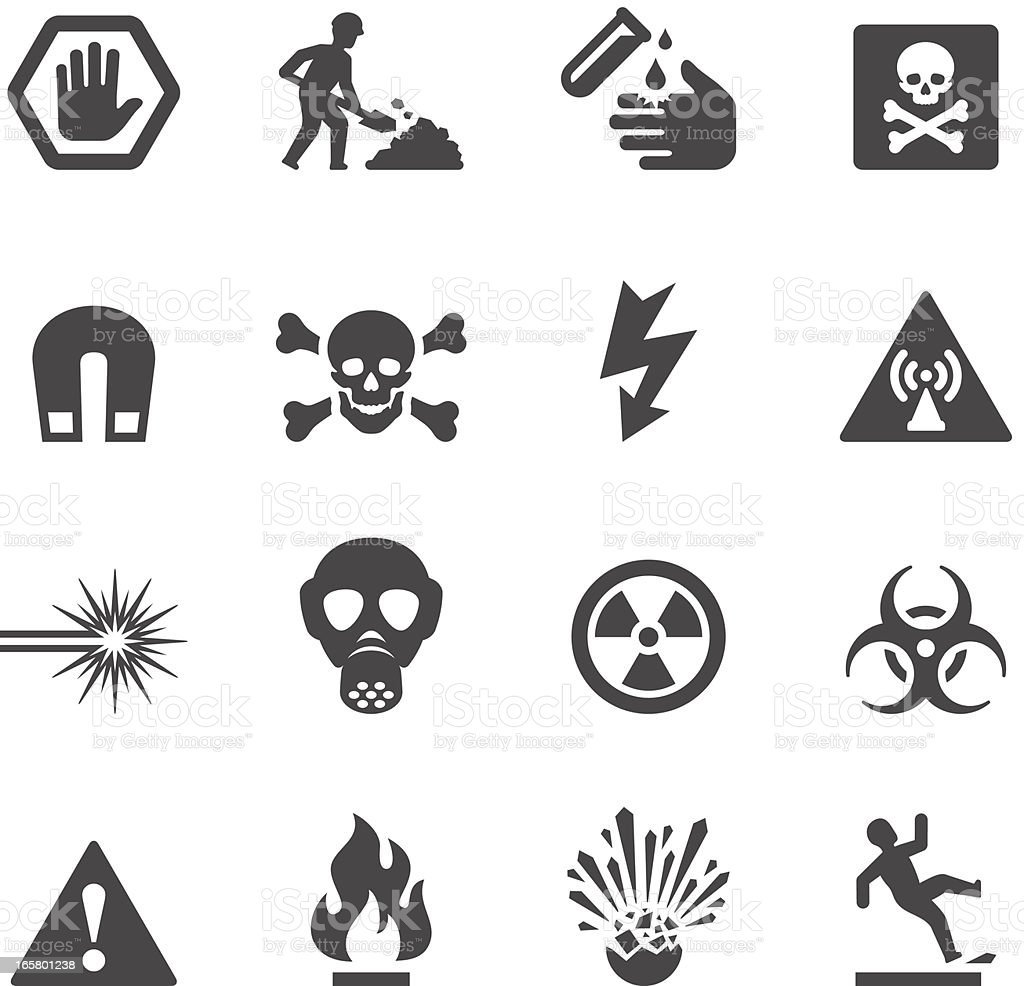 Mobico icons - Hazard and Warning vector art illustration