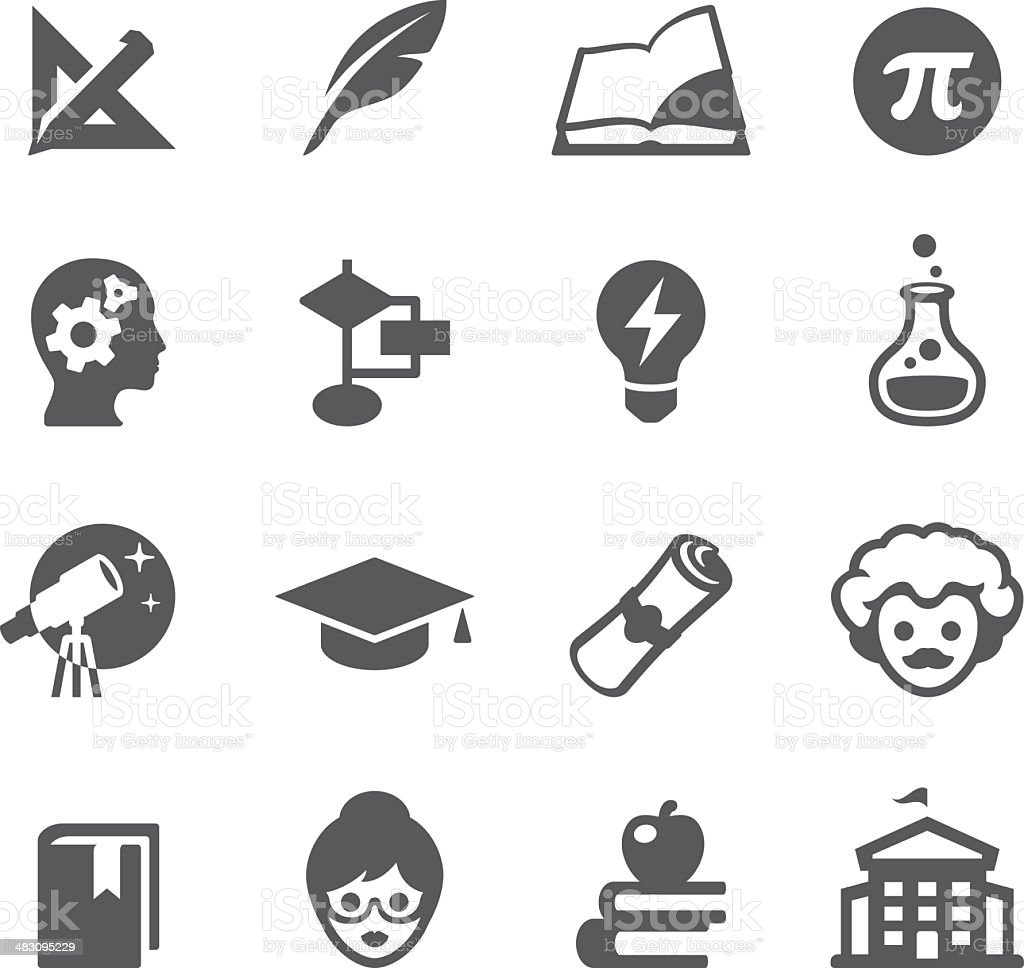 Mobico icons - Higher Education royalty-free stock vector art