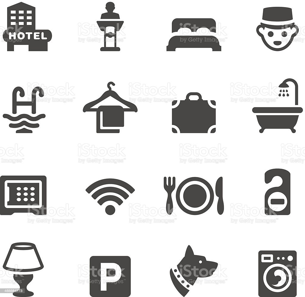 Mobico icons - Hotel vector art illustration