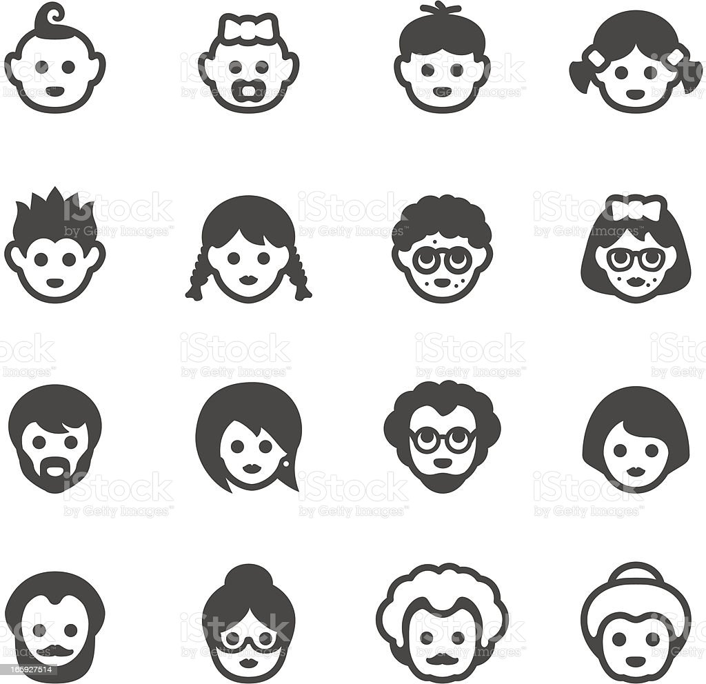 Mobico icons - Human generation vector art illustration