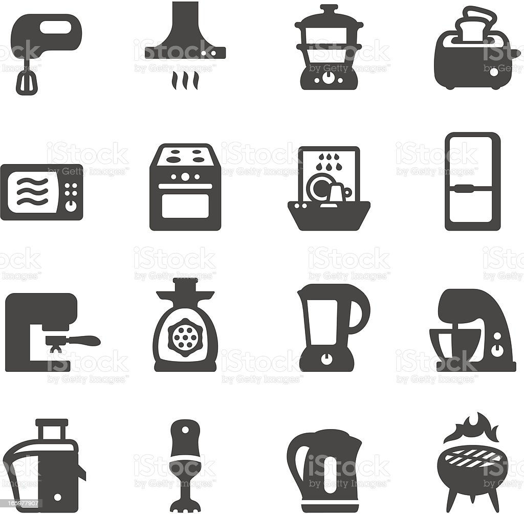 Mobico icons - Kitchen appliances vector art illustration