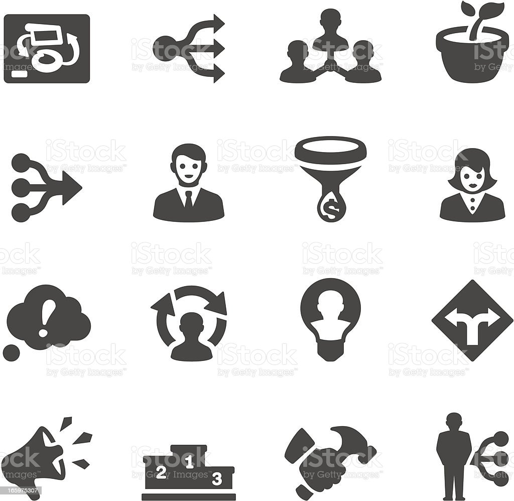 Mobico icons - Management vector art illustration
