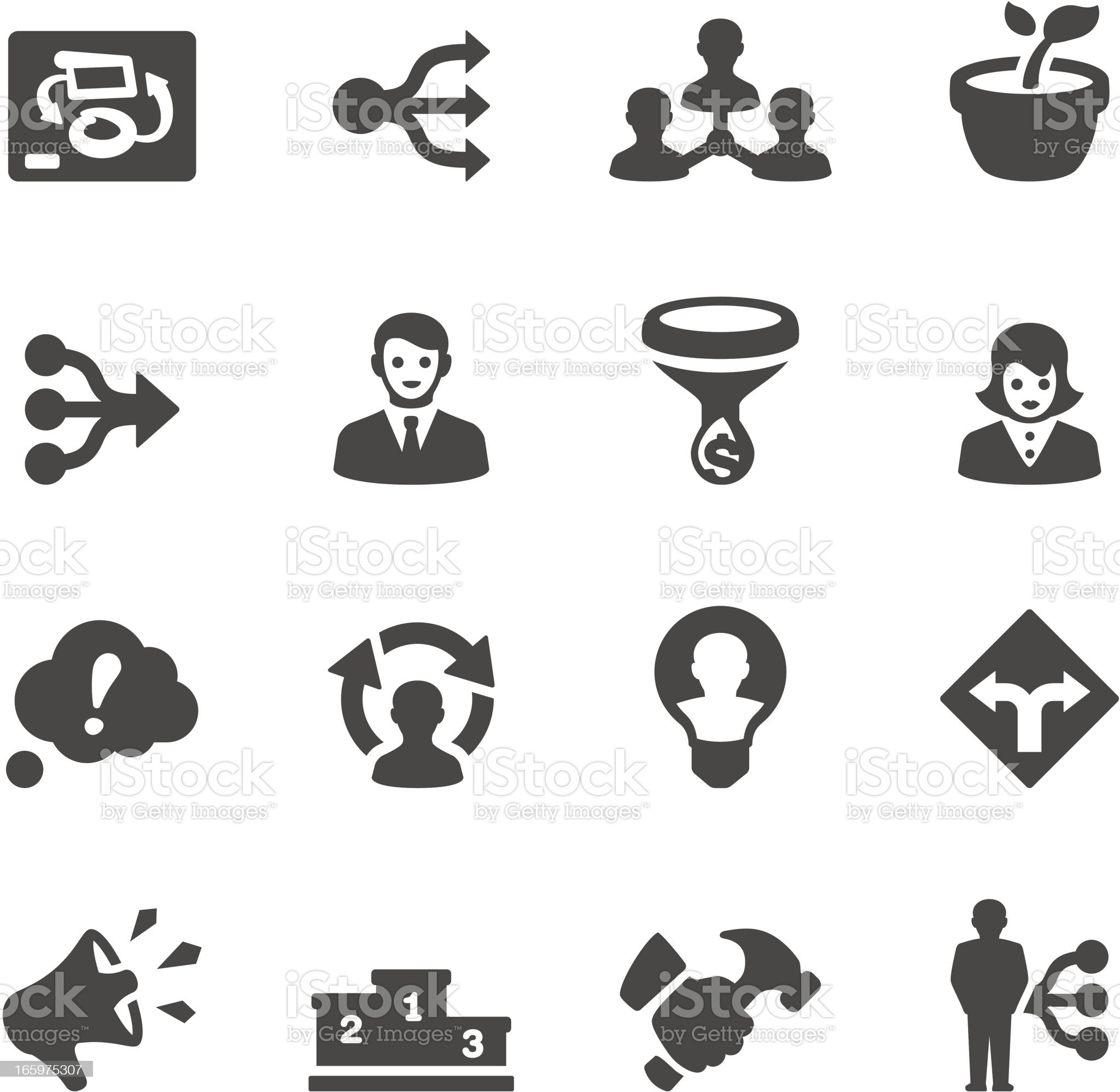 Mobico icons - Management royalty-free stock vector art