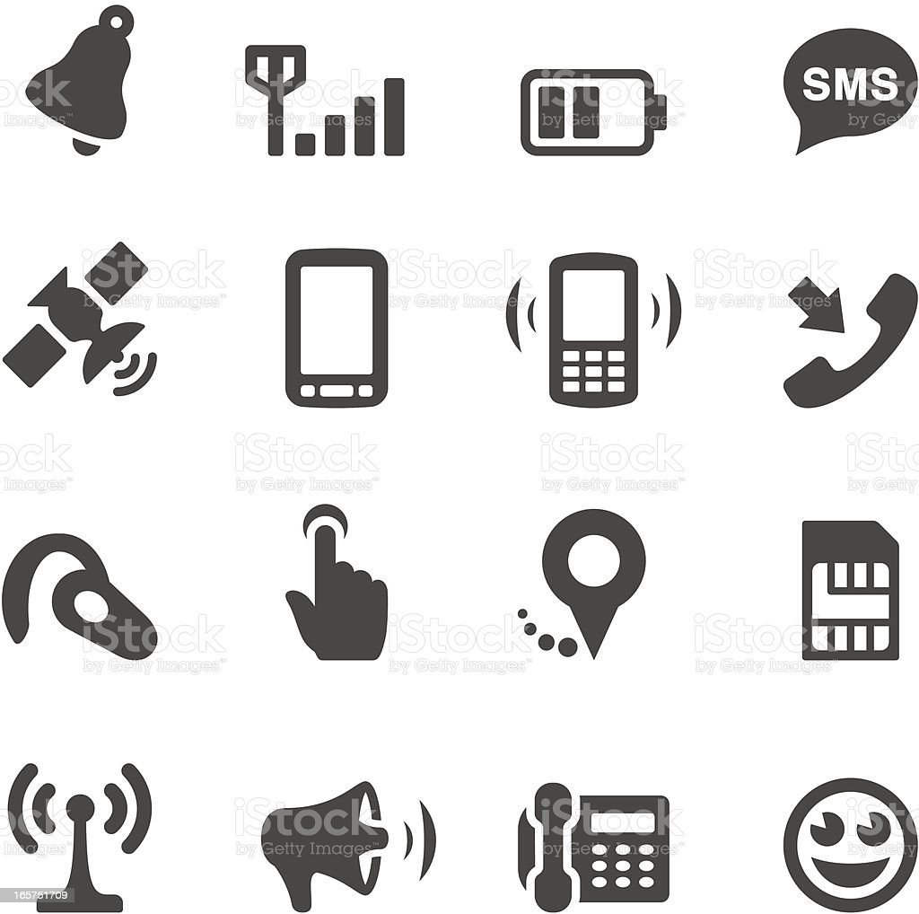 Mobico icons — Mobile royalty-free stock vector art