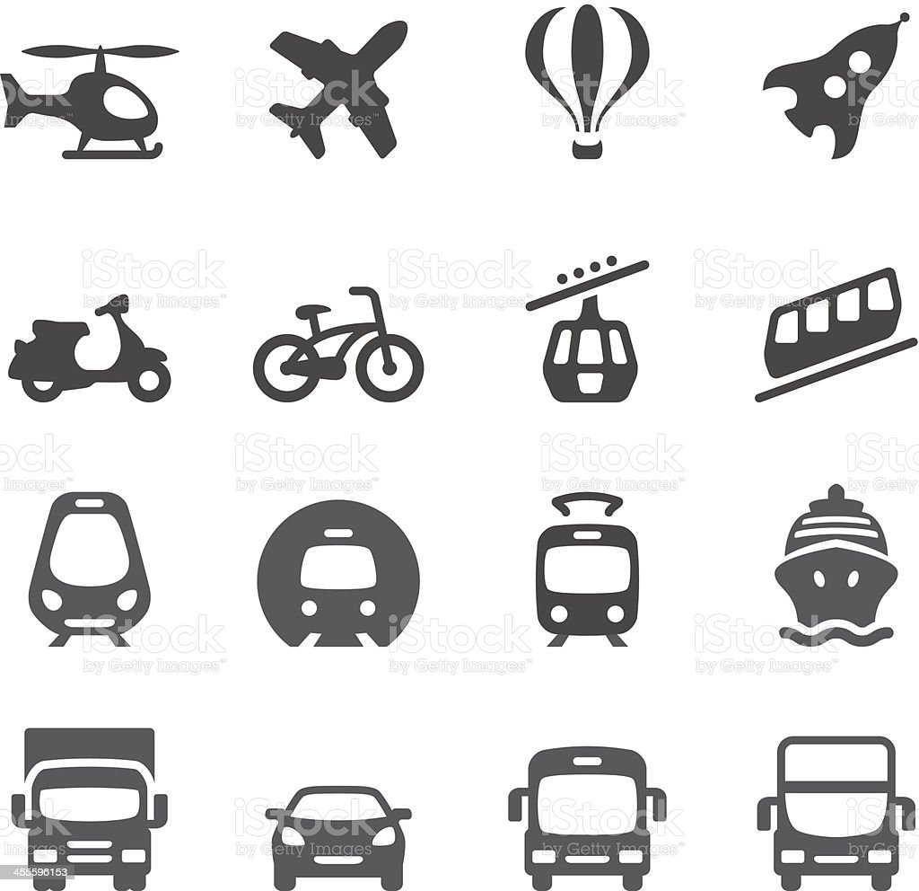 Mobico icons — Mode of Transport royalty-free stock vector art