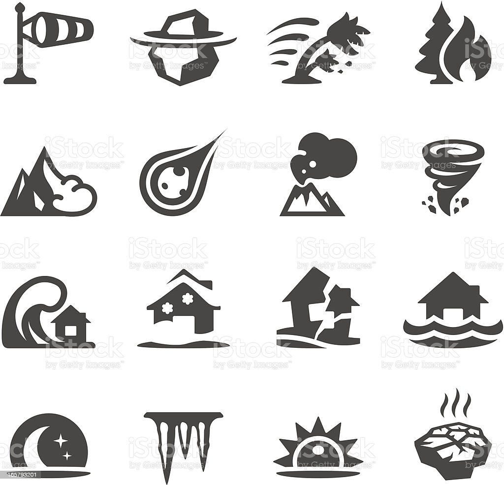 Mobico icons - Natural Disaster vector art illustration